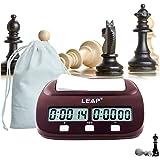 lingye Horloge d'échecs Pendule d'Échecs Chess Clock chronomètre Professionnel d'échecs, Affichage de précision numérique de Haute définition Certification de Fide Emballage Cadeau Exquis