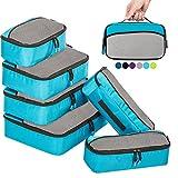 Organizador para Maleta,6 Piezas bolsa de almacenamiento Maleta Caja de almacenamiento de viaje(Azul)