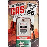 Nostalgic-Art 22215 US Highways - Route 66 Gas Station, Blechschild 20x30 cm