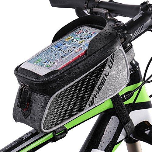 Fahrradrahmen Tasche, Betuy Wasserdicht Bike Top Tube Bag Cycling Frontrahmen Tasche Handyhalter für Smartphones Unter 6,0 Zoll mit Sonnenblende