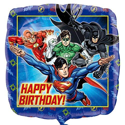 amscan 3238101Justice League Folienballon Happy Birthday Digital Direct-tv
