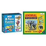 Creative Educational Aids P. Ltd. 0772 Puzzles (8 Piece) & 0701 Animal Puzzle No. 1 (4 to 10 Piece) Combo