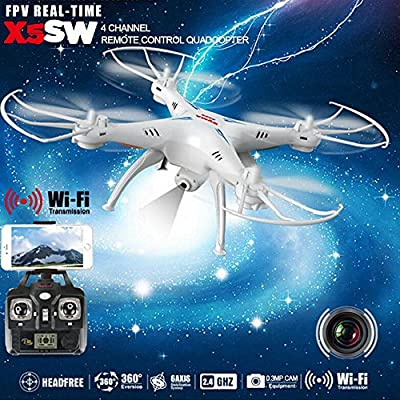 Syma X5SW Explorers 2 HD Camera 2.4GHz 4 Channel WiFi FPV RC Quadcopter 6 Axis 3D Flip Flight UFO RTF