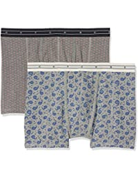 Scotch & Soda Herren Classic Boxer Short in Melange Jersey Quality with All-Over, 2-er Pack