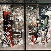 Simpeak 120 Pcs Pegatinas Navidad Copos de Nieve Decoración Nuevo Año Pegatina Calcomanía de Ventana Adhesivos Navideño Accesorio de Decoración para Casa