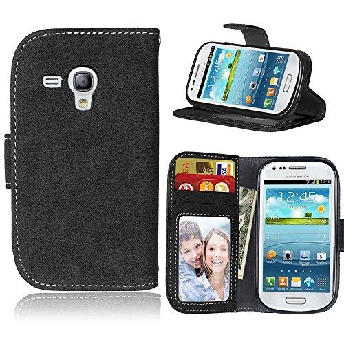 Cozy Hut Samsung Galaxy S3 Mini i8190 S3mini Hülle, TPU Silikon Hybrid Handy Hülle Matte Series Case Durchsichtig Stoßfest Tasche Schutz Scratch-Resistant Protection Case Tasche Schutzhüll Serie Ledertasche