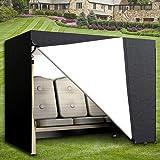 Comficent Housse de Balancelle de Jardin 3 Places Oxford Imperméable Bâche de Balancelle Anti-UV Couverture de Protection Bal