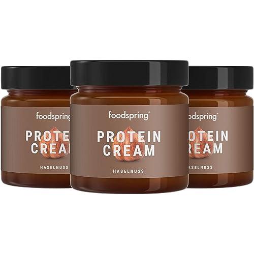 foodspring Crema Proteica, 3 x 200g, Crema proteica spalmabile alla nocciola