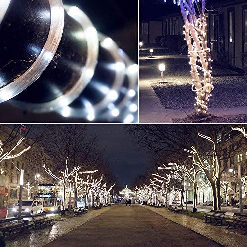 Lichterkette Außen Innen Weihnachten Led Fenster Deko String Fairy Licht Qmber (WH) (Orange Lights Halloween-cluster)