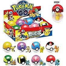 Pokemon Pokeballs 8 PCS Different GS Poke ball & Pokemon Figure inside with Box