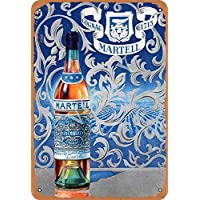 No/Brand Cognac Martell 1715 Cartel de Chapa Metal Advertencia Placa de Chapa de Hierro Retro Cartel Vintage para Dormitorio Pared Familiar Aluminio Arte Decoración