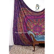 Tapestry regina verde Double Big Flower Hippie Arazzo Mandala Bohemian psichedelico intricato indiano copriletto 233,7 x 208,3 cm Aakriti Gallery (Purple) - American Flag Tapestry