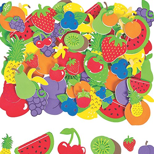 Elfen und Zwerge 5 Bögen Obst Früchte Sticker Sommer Party Dekoration Erdbeere Melone Kirsche Pflaume Zitrone (Bio-erdbeere Pflaume)