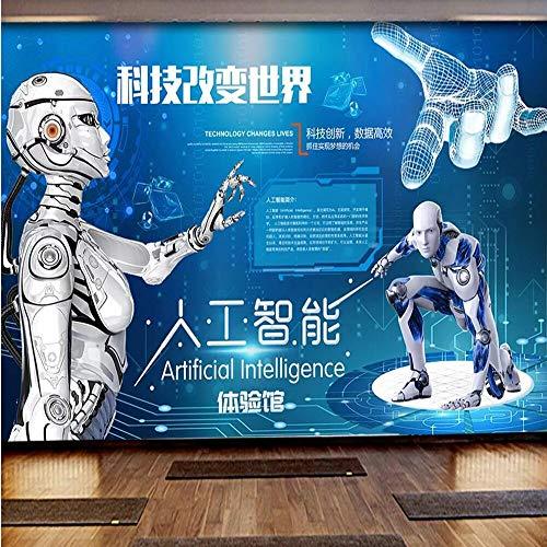 Benutzerdefinierte Wandbild Tapete 3D intelligente Kunstwissenschaft Museum Erfahrung Halle Werkzeug Hintergrund Wand dekorative Malerei-250 X 200CM
