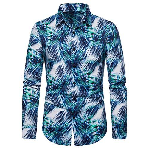 UFODB Businesshemd Herren Slim Fit Mode Print Blazer Spiel Business Anzug Hemd Für Freizeit Hochzeit Hemden Langarmhemd Regular T-Shirts Tops (Jungen Anzüge Setzt)
