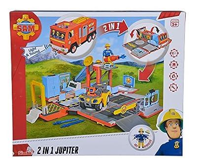 Simba 109251029 - Feuerwehrmann Sam 2 in 1 Jupiter mit Sound