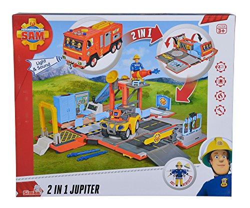 feuerwehrmann sam jupiter simba Simba 109251029 - Feuerwehrmann Sam 2 in 1 Jupiter mit Sound