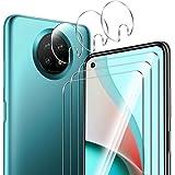ELYCO [3+3 Pezzi] Xiaomi Redmi Note 9T 5G Vetro Temperato Pellicola Protettiva + Pellicola Fotocamera, 9H Durezza Anti-Graffo