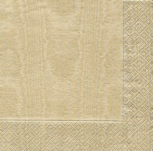 Caspari Servietten, 33 x 33 cm, Goldfarben, 20 Stück