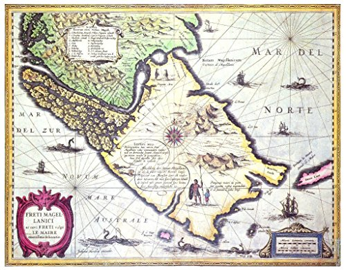art-print-poster-dutch-school-map-of-the-magellan-straits-patagonia-high-quality-picture-fine-art-po