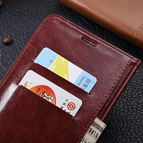 Wkae Case Cover Xiaomi MAX Fall feste Folio magnetische Design Flip Brieftasche Stil Fall Farbmuster PU-Leder-Abdeckung Standup-Abdeckungsfall für Xiaomi MAX ( Color : Brown , Size : Xiaomi MAX ) Red