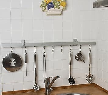 Asta appendi utensili da cucina 32x12 mm, L. 150 cm. in alluminio ...
