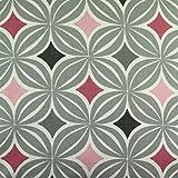 McAlister Textiles - Copenhagen Kollektion | Laila Stoff mit geometrischem Diamant-Muster in Rosa | per halber Meter | Skandinavischer Stil Deko Textil Material für Vorhänge, Polster, Gardinen 100% Baumwolle