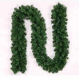 Weihnachtsgirlande verziert Rattan Grün 0.8kg , green , 270cm