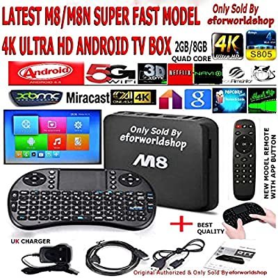 ? ? ORIGINAL ULTRA ? ? M8 S802 XBMC * 8 CORE GPU * QUAD CORE CPU ANDROID FULLY LOADED MASHUP NAVIX (UK BASED) wifi 5G 4K KIT KAT Ultra HD 3D (? 2GB RAM ? 2Ghz Quad Core ? XBMC PRE LOADED GOTHAM) *** PLUS WIRELESS RECHARGEABLE BATTERY TOUCH PAD KEYBOARD***