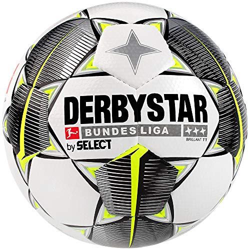 Derbystar Unisex-Erwachsene Bundesliga Brillant TT Fußball, weiß schwarz gelb, 5 -