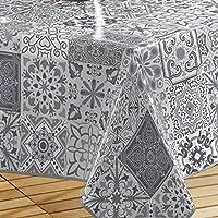 Décorline Décor Line persane mantel rectangular PVC, pvc, gris, 140 x 240 cm