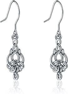 INFUSEU - Orecchini da donna, in argento Sterling 925, con nodo celtico, idea regalo per lei