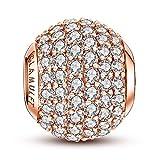 glamulet Charm Perle en argent sterling 925Serties de cristaux pour bracelet Pandora
