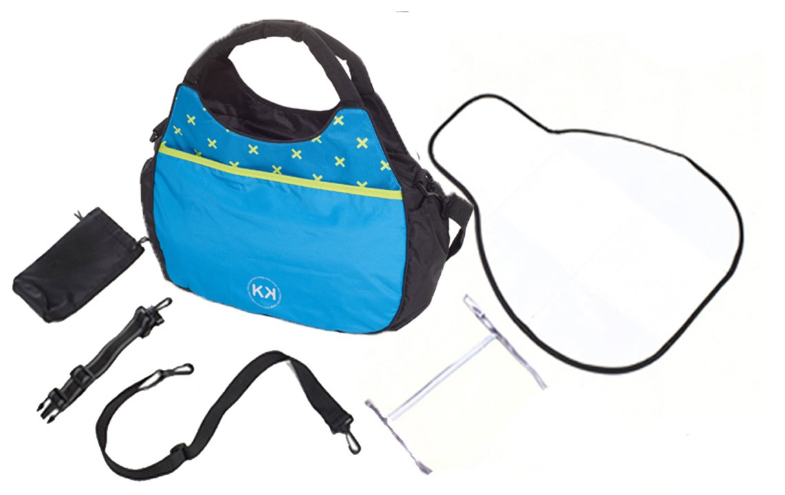 Duellette 21 BS Twin Buggy with Changing Bag and Accessories, Raincovers and 2 Footmuffs Teal Mist Kids Kargo Various seat positions. Both seats can face mum (ideal for twins) Suitability Newborn Twins (if used with car seats) or Newborn/toddler. Accommodates 1 or 2 car seats 5