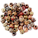 #6: Generic 100Pcs 12Mm Mixed Round Wooden Beads For Jewelry Making Loose Spacer Charms