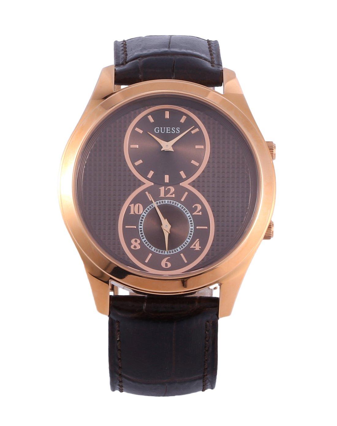 CueroColor Reloj Cuarzo Guess W0376g3 Para De HombreCon Correa Marrón PXkZiu