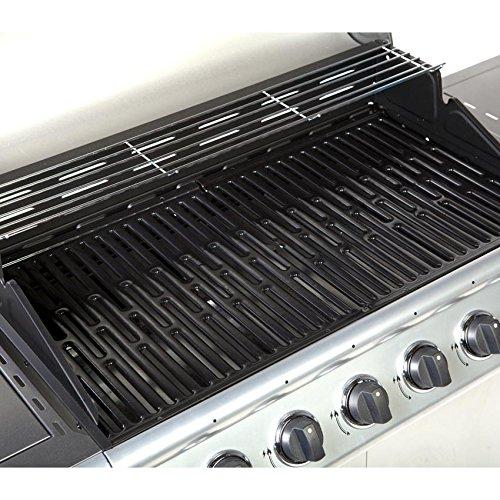 TAINO® Gasgrill BBQ Grillwagen 6 Edelstahl-Brenner 1 Seitenkocher ...