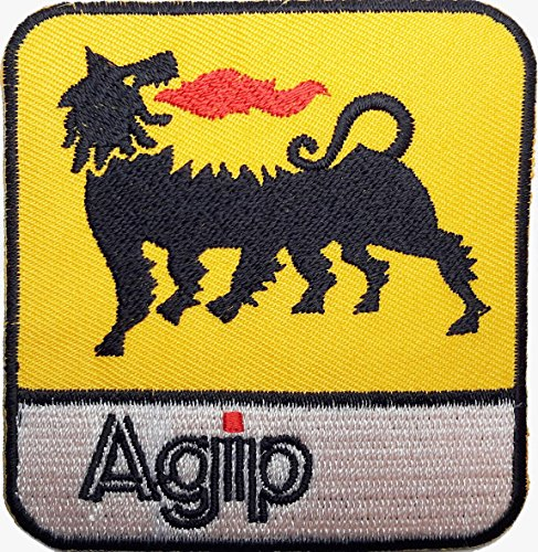 agip-black-yellow-embroidered-badge-patch-iron-or-sew-on-75cm-x-7cm