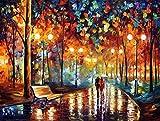 Suntown Malen nach Zahlen 40 x 50cm DIY Leinwand Gemälde für Erwachsene und Kinder mit 3 Bürsten und Acrylfarben - Du und ich (Nur Leinwand)