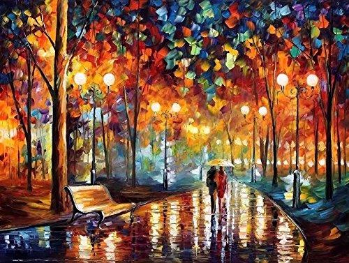 Suntown Malen nach Zahlen 40 x 50cm DIY Leinwand Gemälde für Erwachsene und Kinder mit 3 Bürsten und Acrylfarben - Du und ich (Nur Leinwand) (Rahmen Malerei)