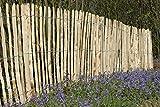 Staketenzaun Kastanie Höhen 50 cm - 200 cm, 5 Meter Rolle, 3 versch. Lattenabstände (Länge x Höhe: 500 x 150 cm, Lattenabstand: 8-10 cm)