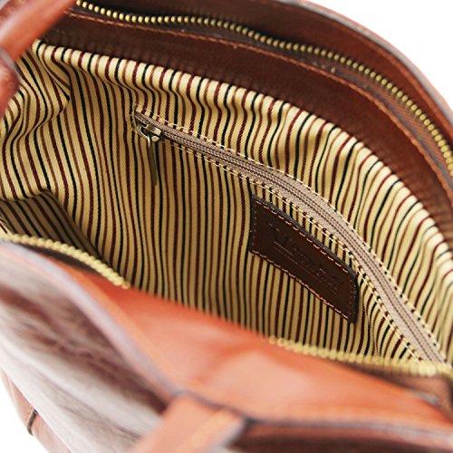 Tuscany Leather Patty Schultertasche aus Kalbsleder Dunkelbraun Dunkelbraun