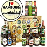 I love Hamburg | Bierbox | Biere aus aller Welt und Deutschland | I love Hamburg | Biergeschenke | Geburtstagsüberraschung Hamburg | INKL Geschenkkarten + Umschläge 6x, 3x Urkunde, Bier Bewertungsbogen