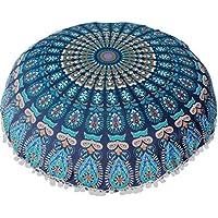 Funda Cojines, Xinan Cojín de meditación de bohemia redonda de grandes almohadas de piso de