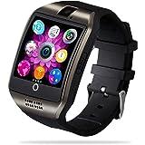 FENHOO Smartklocka för Android-telefoner, full pekskärm smartklocka med SIM-kortplats, stegräknare, kamera, fitnessmätare med