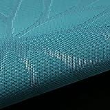Platzset Abwischbar 30x45cm 6 Stück, moonlux Platzdeckchen Tischset Abwaschbar Rutschfest PVC Abgrifffeste Hitzebeständig Tischmatten(Blau) - 6