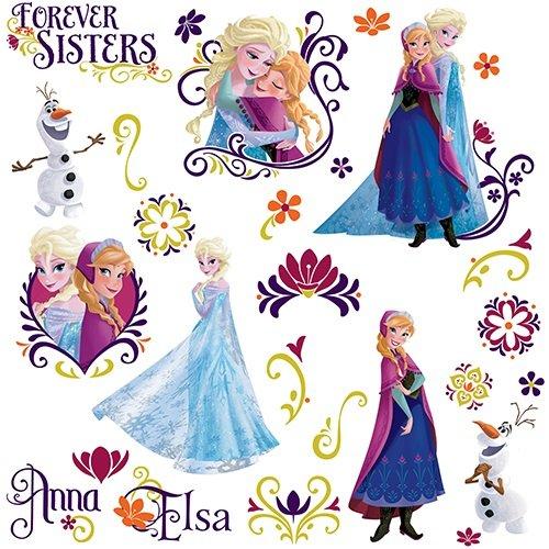 RoomMates RMK2652SCS RM - Disney Frozen Frühling Wandtattoo, PVC, Bunt, 29 x 13 x 2.5 cm