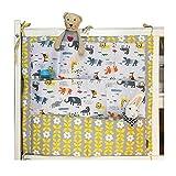 HENGSONG Kinderzimmer Mehrschichtige Beutel Organizer Baby-Bett Krippe Windeln Spielzeug Hängender Beutel Aufbewahrung Tasche 55 * 60CM (Gelb+Grau)