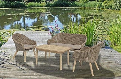 Garten Tisch 100x60cm Akazie Holz Esstisch Gartentisch Terrasse Möbel