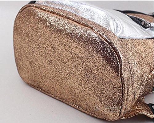 Sprnb piccolo Zaino tela con strato di testa, vacchetta, spalle, borse, donne,Golden Golden